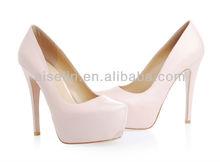 Fashionable apricot women high heel shoes platform