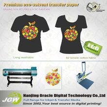 T-shirt transfer paper roll ,ecosolvent ,dark