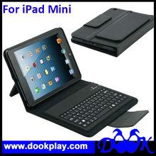For iPad mini Bluetooth wireless keyboard leather cover