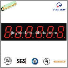 digital number led display board 6 digit counter