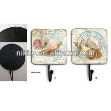 Conch shell series small decorative hooks,kids decorative wall hooks
