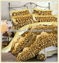 leopard printed bed cover set bed sheet