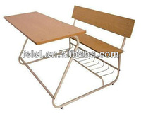 Double seater student desk and chair,school furniture manufacturer