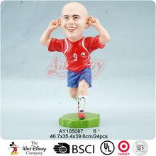 Resin football player figurine