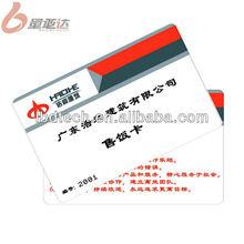 2013 New Fashion Printable PVC Customer Design Smart Meal Selling Card