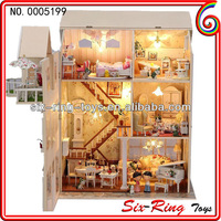 Newest wooden house toys cheap wooden toy doll house mini wooden house toy
