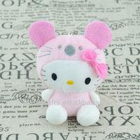 Pink Plush Hello Kitty with Sucker/15cm Hello Kitty Toy