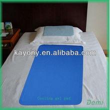 Gel cooling matress pads