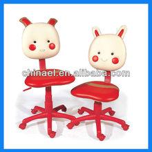 Leisure revolving PVC cartoon computer chair for kids CX-CT02