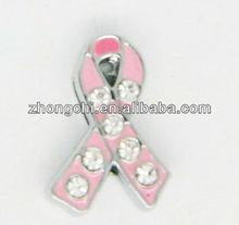 New 8mm DIY Slider Charm ribbon cancer charm(JP08-08-91)