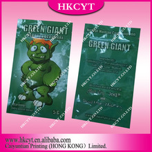 Caiyuntian Plastic Packaging Co. Ltd / Green Giant 5g Herbal Incense Bag