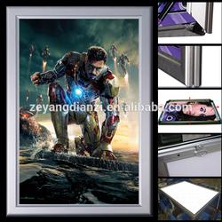 2015 New alibaba innovative single side movie led light poster frame