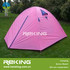 Pink double layer camping tent
