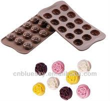 silicone chocolate rose mold