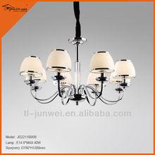 hotel modern white glass shade chandelier