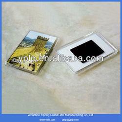 Rectangle shape blank plastic acrylic photo frame fridge magnet with picture insert
