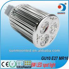 e27/gu10 high lumens 6w 9w led light mini spot mr16 12v