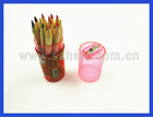 12 PCS Mini color pencils in cylinder