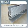 el panel solar de aluminio de montaje del carril