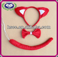 Performance Wear Red Fox Ears Animal Headband Party