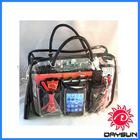 Clear PVC Handbag Purse Cosmetic Make Up Tote Travel Bag Organizer
