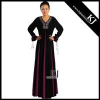 2015 Modesty Latest Design Arabic Abaya Fashion