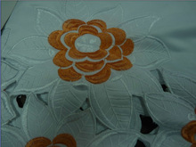 floral Cotton Africa Embroidery lace fabric