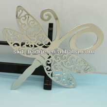 Plated silver jumbo paper clip bookmarks