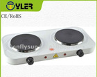 electric double hotplates supplier home appliance CE,ROHS