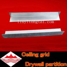 Aluminum false suspended ceiling tee grids wall angle/aluminum trim angles