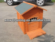 Out Door Water Proof Wooden Natural Dog Kennel Dog House
