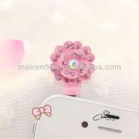 free shipping earphone jack dust cap plug cute dust plug (XT-112)