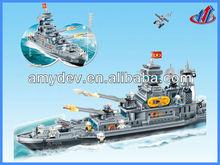 2013 Hot sale 1700pcs Giant Aircraft Carrier Plastic Building Blocks toys set