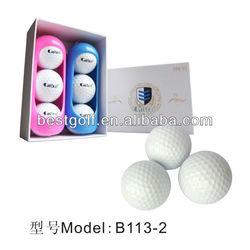 B113-2 High Quality Golf Ball With Golf Ball Holder ,Golf Tournament Ball,Golf Gift Set