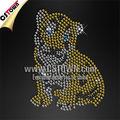 design correctif strass bling bébé tigre