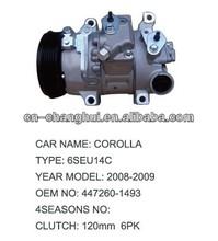 auto ac compressor for TOYOTA COROLLA 6SEU14C 447260-1493