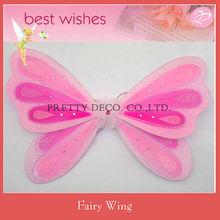 Pink costume butterfly wings children angel wing dress