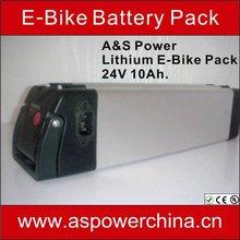 24v 10ah lityum pil elektrikli bisiklet 24 Volt için yeni ürünler BMS ile 2013, şarj cihazı ve Alüminyum çantası