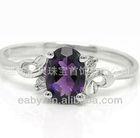 fashion jewelry ,alloy plating platinum amethyst ring, women's gift,CYR0005A