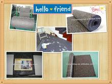 nonwoven cotton fabric/polyester cotton blend fabric/cheap carpet/mat/felt