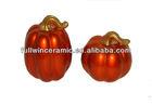 Electroplated Ceramic Pumpkin Decoration for Harvest Festival