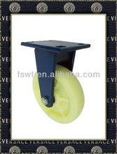 Hardware Super Heavy Duty Nylon/PP Industrial Fixed Castor Wheel With Blue Bracket