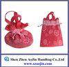 colorfull drawstring nylon mesh gift bag