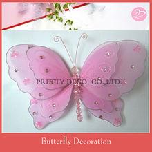Silk fabric butterfly design