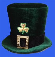 Irlandesa para adultos sombrero de copa irlandés barato sombrero de fieltro creativo la conversión de st. Patrick's día sentía sombrero de copa con hebilla
