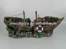 large size pirate ship artificial for aquarium