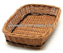 midollino naturale ingrosso vassoio pane cestini