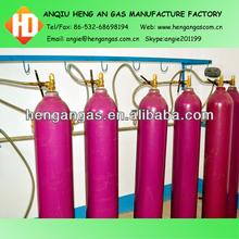 Bottle of Argon Co2 Gas