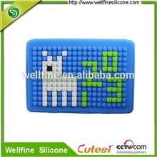Puzzle silicone case for mini i pad 2 with blocks design