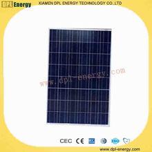 DPL hot polycrystalline 160watt small glass solar cell free sample with TUV CE CEC MCS